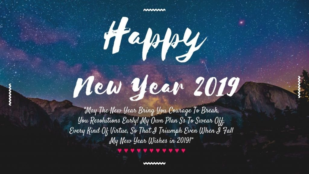 Happy New Year 2019 Greetings Wishes
