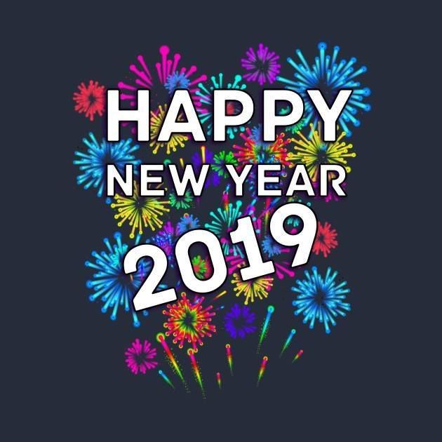 Happy New Year 2019 Images Colorful Fireworks