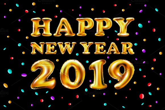 Happy New Year 2019 Images In Ballon