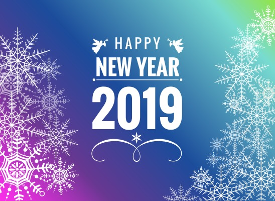 Happy New Year 2019 Pictures Snowflakes Vector