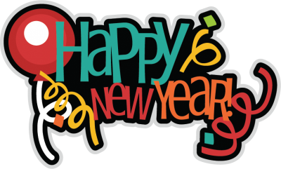Happy New Year Ballon Colorful Png