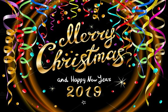 Merry Christmas Happy New Year 2019 Greetings Images